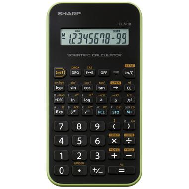Sharp EL-501XB calcolatrice scientifica Nero, Verde