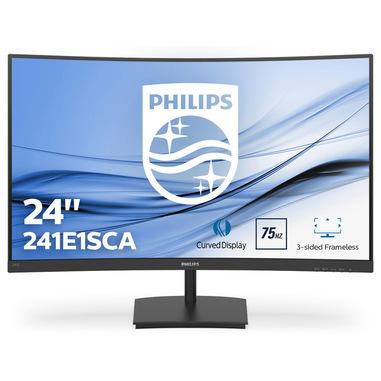 """Philips E Line 241E1SCA/00 monitor piatto per PC 59,9 cm (23.6"""") 1920 x 1080 Pixel Full HD LCD Nero"""