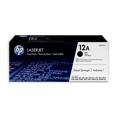 HP Confezione da 2 cartucce originali di Toner nero LaserJet 12A
