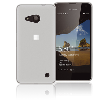 Phonix Custodia gel per Microsoft Lumia 550 bianca