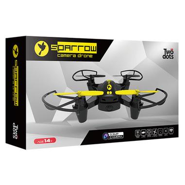 Twodots Sparrow 4rotori 0.3MP 640 x 480Pixel 350mAh Nero, Giallo drone fotocamera