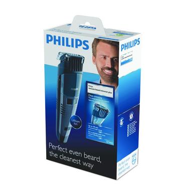 Philips BEARDTRIMMER Series 7000 Regolabarba con sistema aspirante QT4050/32
