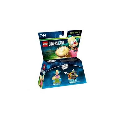LEGO Dimensions Fun Pack - Krusty the Clown personaggio per gioco di costruzione