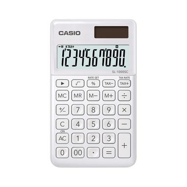 Casio SL-1000SC-WE calcolatrice di base Bianco
