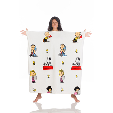 Kanguru Momonga Peanuts coperta con maniche 120 x 120 cm Poliestere Multicolore