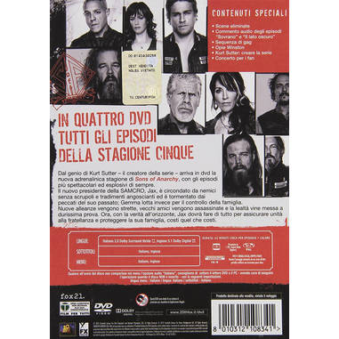 Sons of Anarchy: Stagione 5 DVD