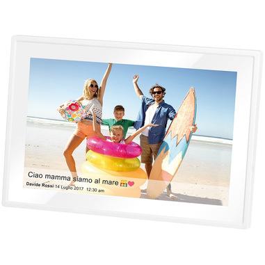 """Trevi DPL 2230 cornice per foto digitali 25,6 cm (10.1"""") Touch screen Wi-Fi Bianco"""