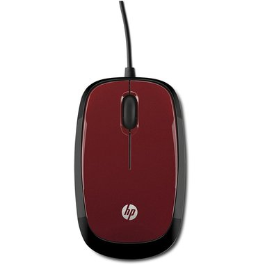 HP Mouse X1200 cablato Flyer Red