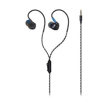 MySound Auricolare In Ear Con Microfono, Speak Run, Nero
