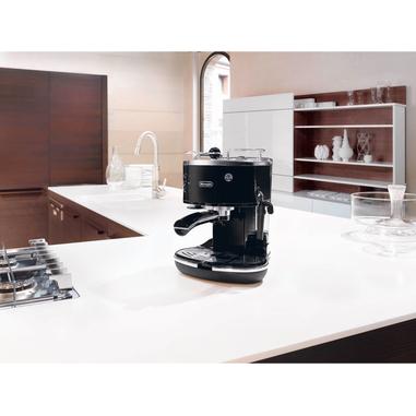 DeLonghi ECO 311.BK Espresso machine 1.4L 2tazze Nero, Acciaio inossidabile