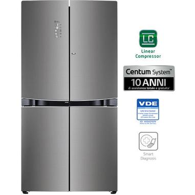 LG GMD916SBHZ Libera installazione 601L A++ Acciaio inossidabile frigorifero side-by-side