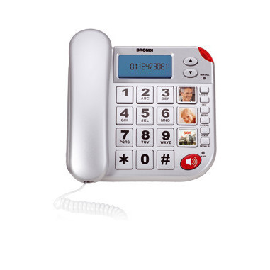 Brondi Super Bravo Plus Analog telephone Identificatore di chiamata Bianco