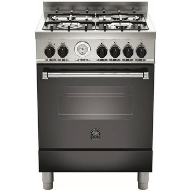 Bertazzoni La Germania Americana AMN604MFESNET Piano cottura Gas A Nero, Acciaio inossidabile cucina