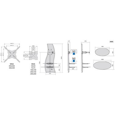 Meliconi Porta Tv Ghost Design 2000.Meliconi Ghost Design 2000 Rotation 63 Rosso Supporti Tv In