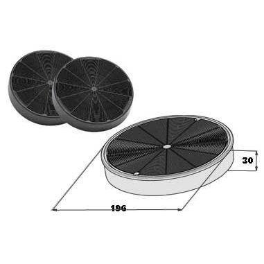 Faber Coppia filtri carbone attivo H37 cm per cappe