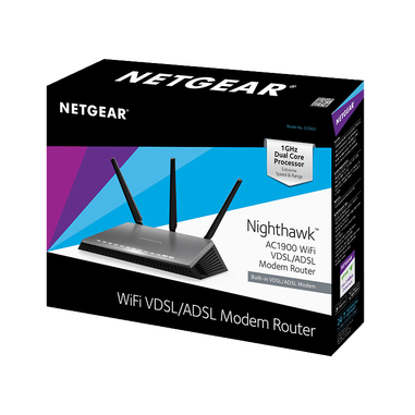 Netgear D7000 V2 Dual-band (2.4 GHz/5 GHz) Gigabit Ethernet Nero router wireless