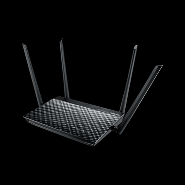 ASUS RT-AC57U router wireless Dual-band (2.4 GHz/5 GHz) Gigabit Ethernet Nero