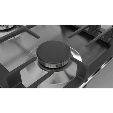 Bosch Serie 6 PCP6A5B90 Incasso Gas Nero, Acciaio inossidabile piano ...