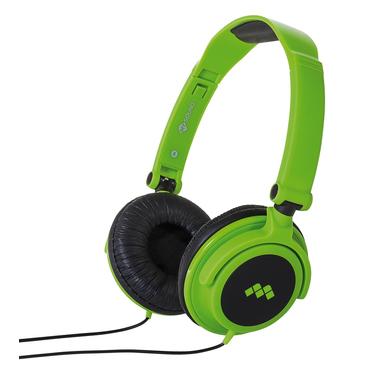 MySound Speak SMART FLUO Padiglione auricolare Stereofonico Cablato Nero, Verde auricolare per telefono cellulare