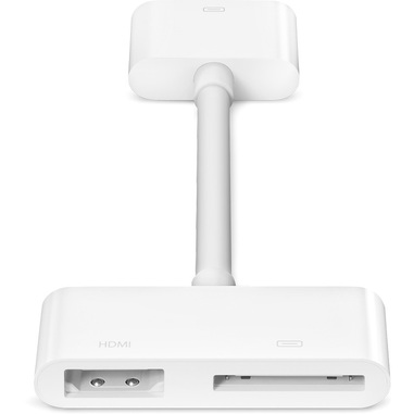 Apple MD098 Dock 30p HDMI + Dock 30p Bianco cavo di interfaccia e adattatore