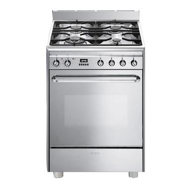 Smeg CP60X9 Libera installazione Piano cottura a gas A Acciaio inossidabile cucina