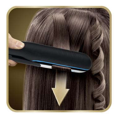 Rowenta SF6220 Liss&Curl Ultimate Shine Piastra per Capelli Lisci o Ricci 2 in 1, Professionale, con Doppio Generatore di Ioni