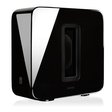 Sonos SUB subwoofer home theatre wireless integrabile a sistemi Sonos, nero lucido