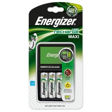 Energizer carica batterie Accu Recharge Maxi + 4 AA da 2000 mAh