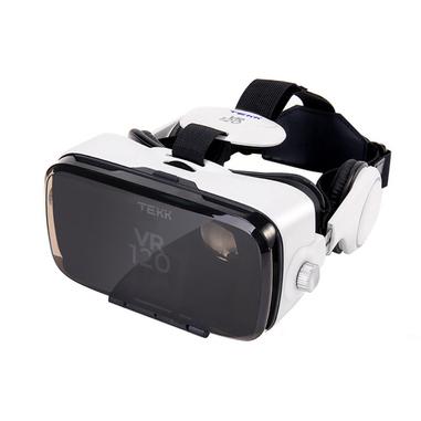 TEKK VR 120 Visore collegato allo smartphone 410g Nero, Bianco