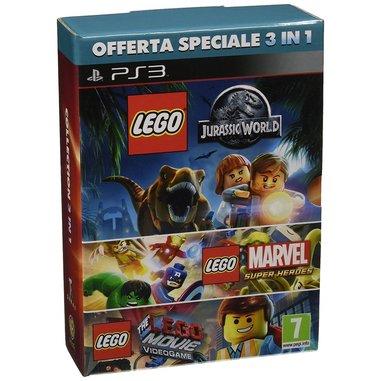 LEGO Jurassic World, LEGO Marvel, LEGO Movie - PS3