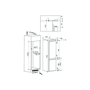 Hotpoint BCB 7030 E C AA Incasso A+ Bianco frigorifero con congelatore