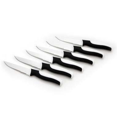WD Lifestyle Set 6 coltelli bistecca manicatura bianco-nero