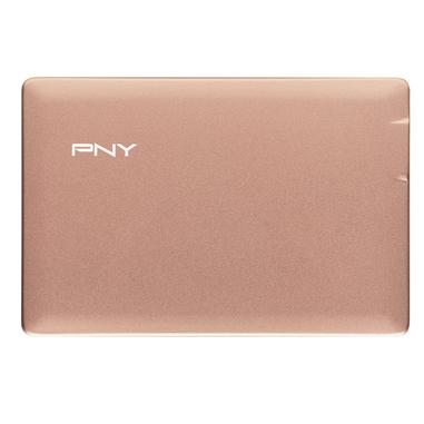 PNY PowerPack ALU 2500 Polimeri di litio (LiPo) 2500mAh Oro rosa batteria portatile