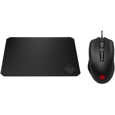 HP OMEN 400 + OMEN Pad 200 mouse USB Ottico 5000 DPI Mano destra