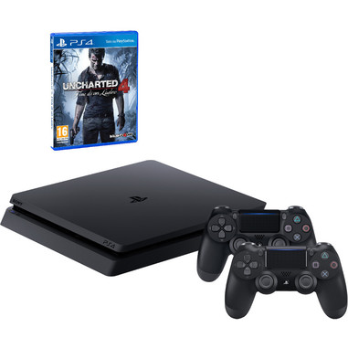 Sony PS4 1TB chassis D + Uncharted 4 + secondo DualShock 4 v2
