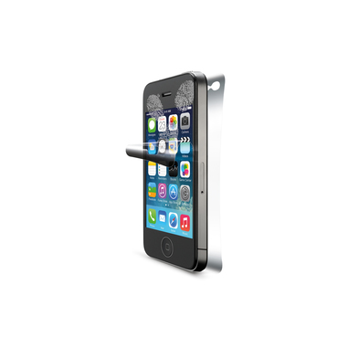Cellularline Ok Display Anti-Trace Front&Back - iPhone 4S/4 Pellicola protettiva per display e retro del telefono anti impronte Trasparente