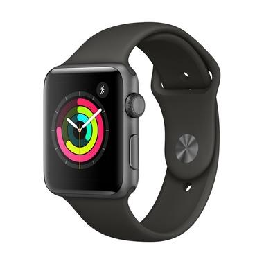 Apple Watch Series 3 OLED GPS Cassa in alluminio grigio siderale con cinturino Sport grigio (42mm)