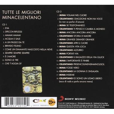 MinaCelentano - Tutte Le Migliori, 2CD CD Pop