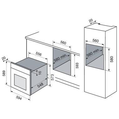 Electrolux ROB 6440 AOX forno