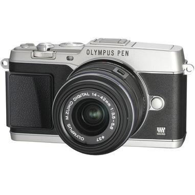 "Olympus PEN E-P5 + M.ZUIKO ED 14‑42mm MILC 16,1 MP Live MOS 4608 x 3456 Pixel 4/3"" Argento"