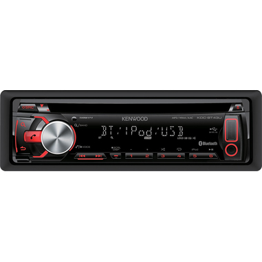 Kenwood Electronics KDC-BT43U 200W Bluetooth Nero autoradio