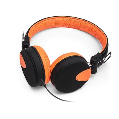 MySound Speak Style Padiglione auricolare Stereofonico Cablato Nero, Arancione auricolare per telefono cellulare