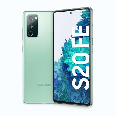 "Samsung Galaxy S20 FE , Display 6.5"" Super AMOLED, 3 fotocamere posteriori, 128 GB Espandibili, RAM 6GB, Batteria 4500mAh, Hybrid SIM, Mint"