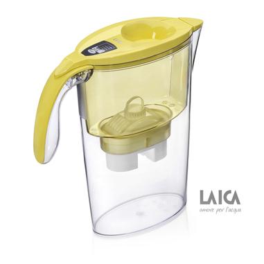 Laica J431H Brocca 2.3L Trasparente, Giallo filtro d'acqua