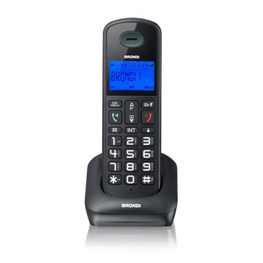 Brondi Bravo Style DECT telefono cordless Nero