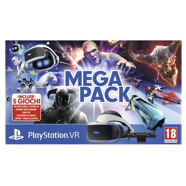 Sony PS VR Mega Pack Occhiali immersivi FPV Nero, Bianco