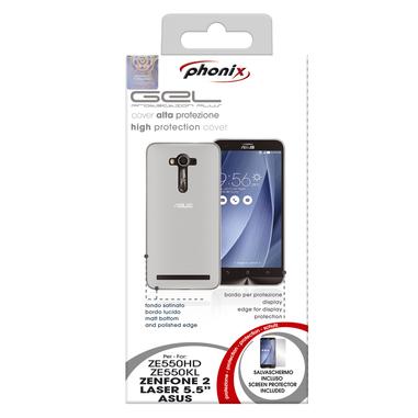 Phonix Custodia gel per Asus Zenfone 2 Laser trasparente