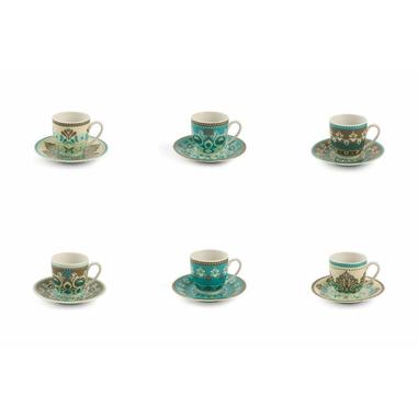 Villa D'este Home set 6 tazzine da caffè con piattino Cala jondal