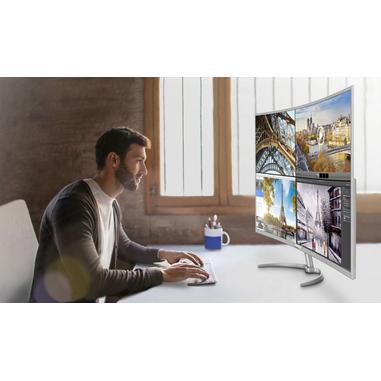 Philips Brilliance Display LCD Ultra HD 4K con Multiview BDM4037UW/00 monitor curvo per PC