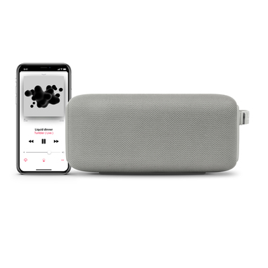 Fresh 'n Rebel Rockbox Bold M Cloud - Altoparlante Bluetooth Waterproof IPX7, Grigio